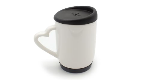 Mug with Silicone Cap and Base BLACK