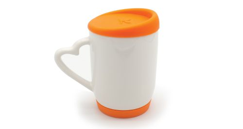 Mug with Silicone Cap and Base ORANGE