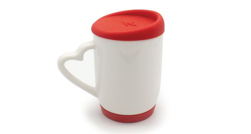 Mug with Silicone Cap and Base RED