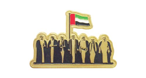 National Day Badges with round magnet - Gold