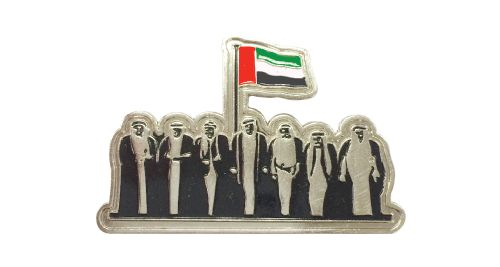 National Day Badges with round magnet - Silver
