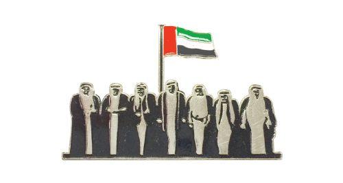 UAE National Day Logo Badge - Silver
