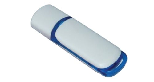 USB Flash Drives 8GB - White and Blue