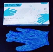 Dexwenn Blue Vinyl Gloves
