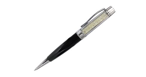 Crystal metal pen - Black