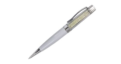 Crystal metal pen - White