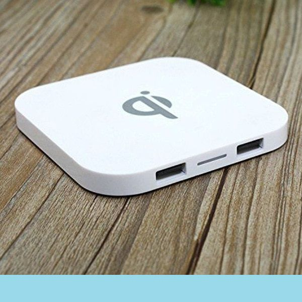 Portable Wireless Charging Pad 2 USB Ports