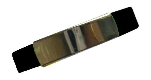 Silicon Wristband With Metal Black