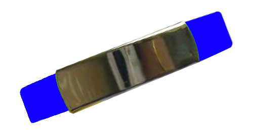 Silicon Wristband With Metal Blue