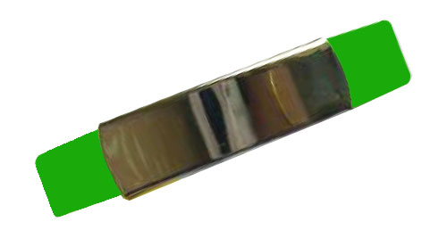 Silicon Wristband With Metal Green