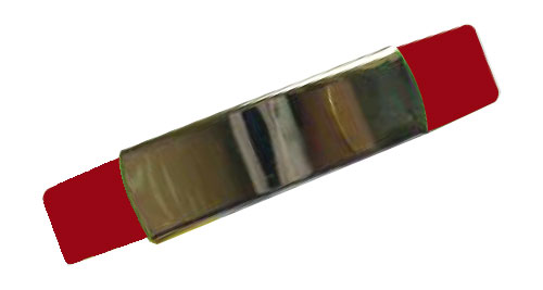 Silicon Wristband With Metal Maroon