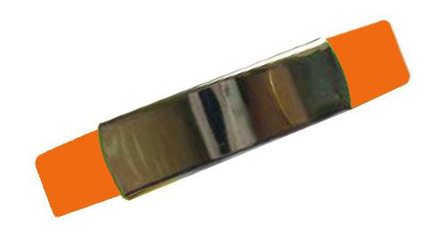 Silicon Wristband With Metal Orange