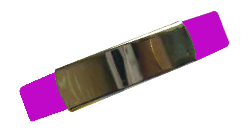 Silicon Wristband With Metal Pink