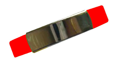 Silicon Wristband With Metal Red