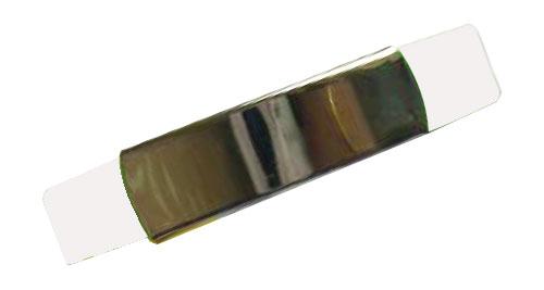 Silicon Wristband With Metal White
