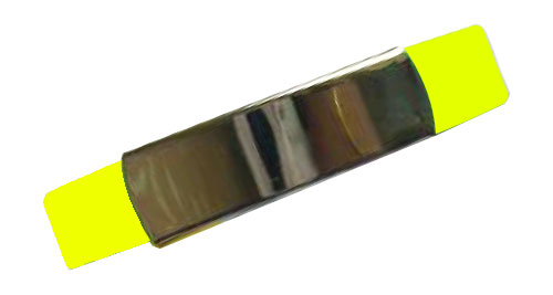 Silicon Wristband With Metal Yellow