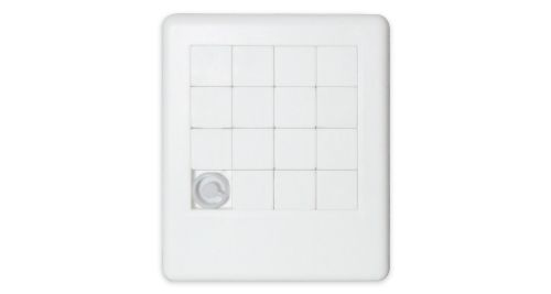 Plastic Puzzle White Color