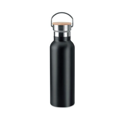 Stainless Steel and Bamboo Flask