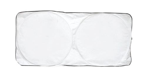 Car Sun Shade - White with Black Border