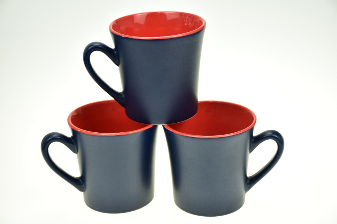 Two Colored Mugs Blue