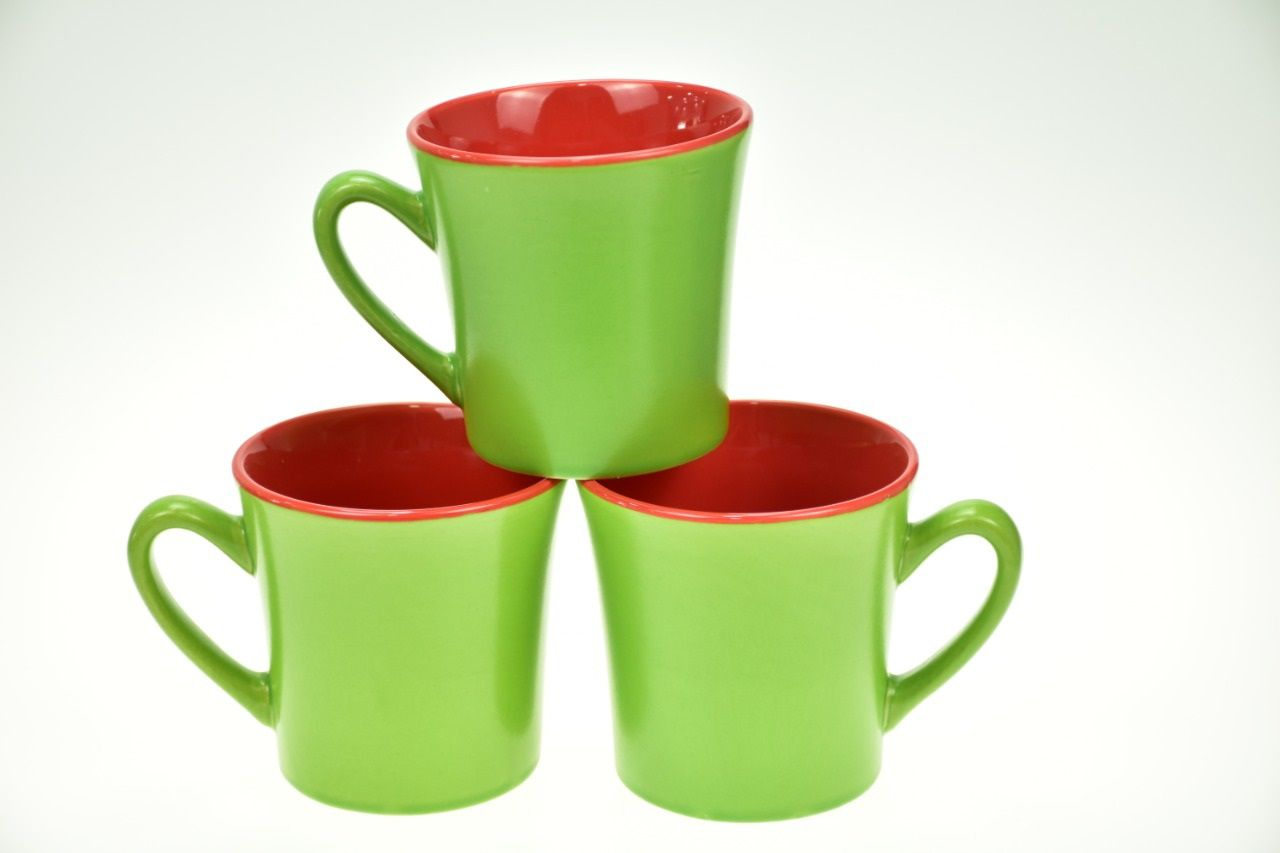 Two Colored Mugs Green