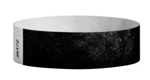 Tyvek Wristbands Black Color