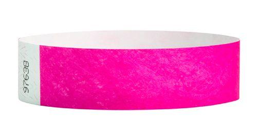 Tyvek Wristbands Light Pink Color