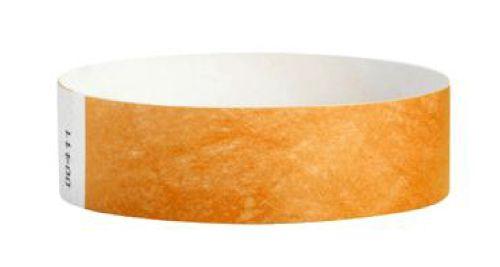 Tyvek Wristbands Orange Color