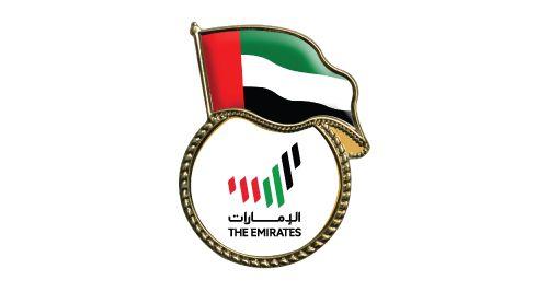 UAE Flag Metal Badges in Gold Color