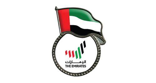 UAE Flag Metal Badges in Silver Color