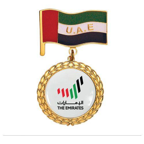 UAE Day Logo and Flag Medal