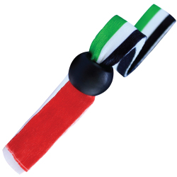 UAE Flag Ribbon Wristbands with Black Clip