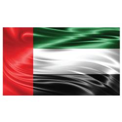 UAE Flag Satin Material