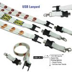 USB Lanyard 2 cm White Color with Hook 8GB