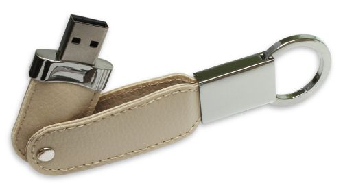 USB Flash Drives with Key Holder and Leather Cover - 4GB