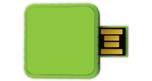 Twister USB Flash Drives - Green Color 4GB