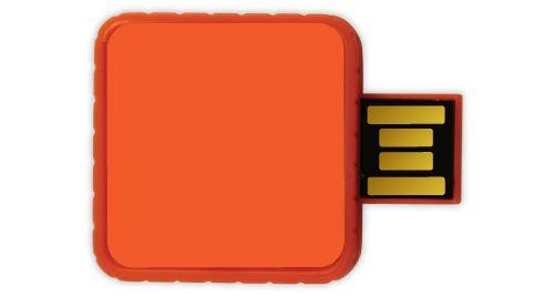 Twister USB Flash Drives - Orange Color 4GB