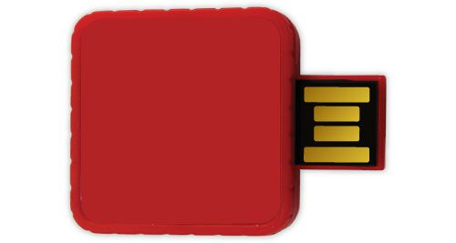 Twister USB Flash Drives - Red Color 8GB