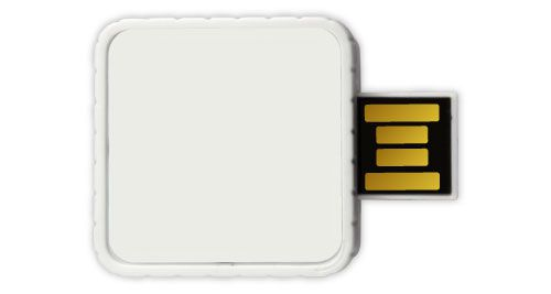 Twister USB Flash Drives - White Color 4GB