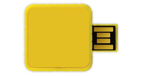 Twister USB Flash Drives - Yellow Color 4GB