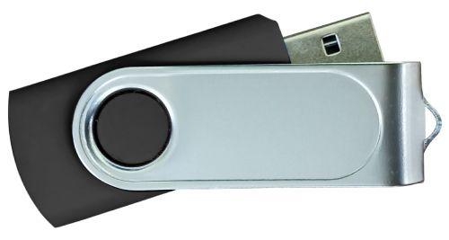 USB Flash Drives with 2 Sides Epoxy Logo - Black 8GB