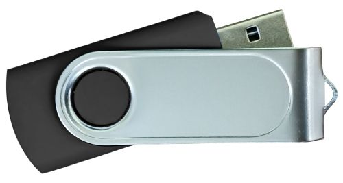 USB Flash Drives with 2 Sides Epoxy Logo - Black 32GB