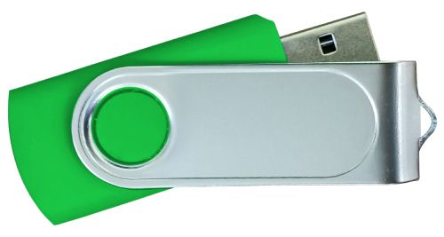 USB Flash Drives with 2 Sides Epoxy Logo - Green 32GB