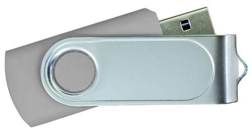 USB Flash Drives with 2 Sides Epoxy Logo - Grey 4GB