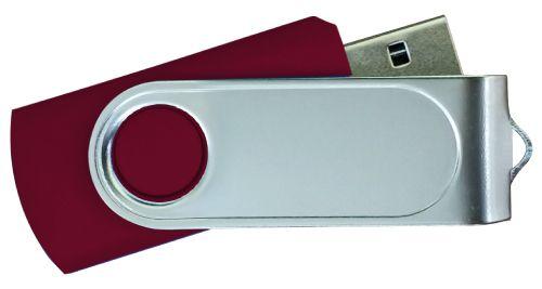 USB Flash Drives with 2 Sides Epoxy Logo - Maroon 32GB