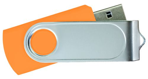 USB Flash Drives with 2 Sides Epoxy Logo - Orange 8GB