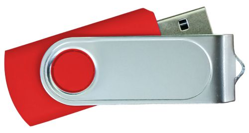USB Flash Drives with 2 Sides Epoxy Logo - Red 8GB