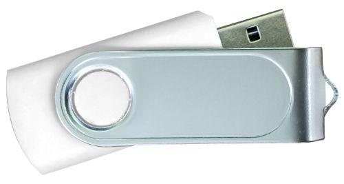 USB Flash Drives with 2 Sides Epoxy Logo - White 8GB