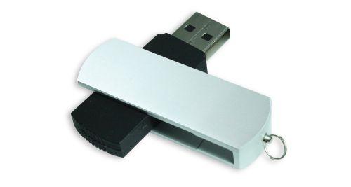 Matte Silver Swivel USB Flash Drives 4GB