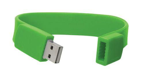 Wristbands USB Flash Drives Green 8GB